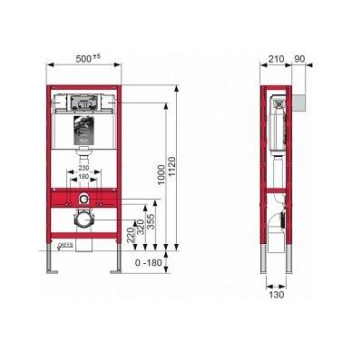 Universalus WC modulis TECEprofil 2