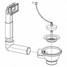 Užkemšamas ventilis D 1''1/2 Franke plautuvėms ETL 611-58, ETN 611-58