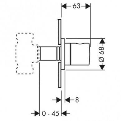 Uždarymo ventilis Axor Uno 2