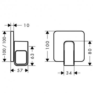 Uždarymo ventilis Axor Urquiola 2