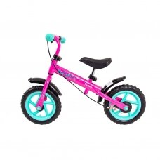 Vaikiškas balansinis dviratukas (iki 36 kg) Worker Toucan -  Pink