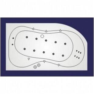 Vandens-oro masažinė sistema Koller Lux 4