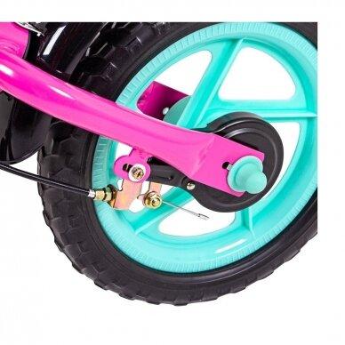 Vaikiškas balansinis dviratukas (iki 36 kg) Worker Toucan -  Pink 4