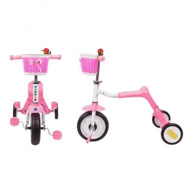 Vaikiškas triratis 2in1 paspirtukas - dviratukas Worker Blagrie - Green 2