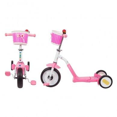 Vaikiškas triratis 2in1 paspirtukas - dviratukas Worker Blagrie - Green 3