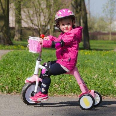 Vaikiškas triratis 2in1 paspirtukas - dviratukas Worker Blagrie - Green 4