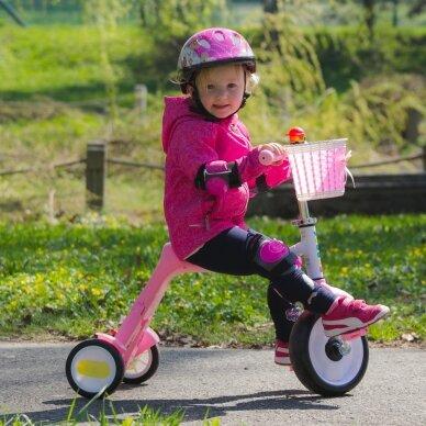 Vaikiškas triratis 2in1 paspirtukas - dviratukas Worker Blagrie - Green 5