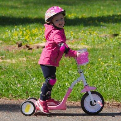 Vaikiškas triratis 2in1 paspirtukas - dviratukas Worker Blagrie - Green 6