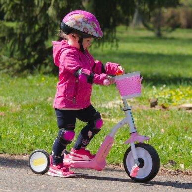Vaikiškas triratis 2in1 paspirtukas - dviratukas Worker Blagrie - Green 7