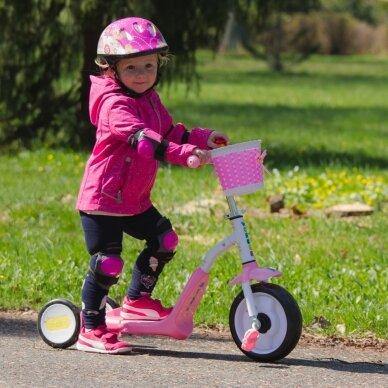 Vaikiškas triratis 2in1 paspirtukas - dviratukas Worker Blagrie - Green 8