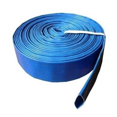 "Vamzdis LAY FLAT PVC 2"" (52mm), AQUA - 1 metras"