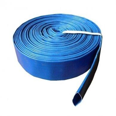 "Vamzdis LAY FLAT PVC 2 ½"" (65mm), SKY - 1 metras"