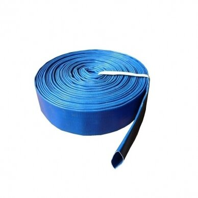 "Vamzdis LAY FLAT PVC 2 ½"" (65mm),RUBY - 1 metras"