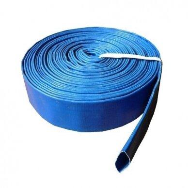 "Vamzdis LAY FLAT PVC 3"" (77mm), SKY - 1 metras"