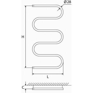 Žalvarinis rankšluosčių džiovintuvas Elonika EŽ 1050 S 4