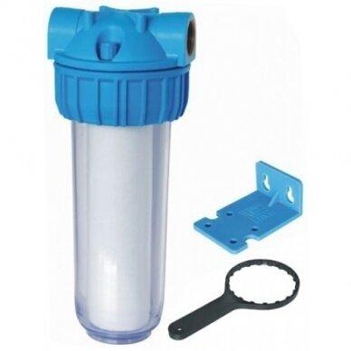 """Vandens filtrų korpusas 2-jų dalių su laikikliu ir ratuku 1/2"""" PR12-l"""