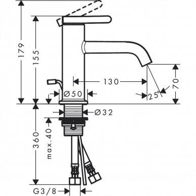 Vandens maišytuvas Axor One 70 3