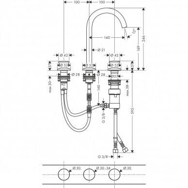 Vandens maišytuvas Axor One Select 170 6