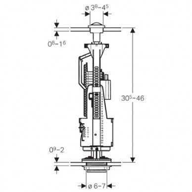 Vandens nuleidimo mechanizmas Geberit ImpulsBasic240 2