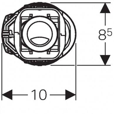 Vandens nuleidimo mechanizmas Geberit ImpulsBasic240 3