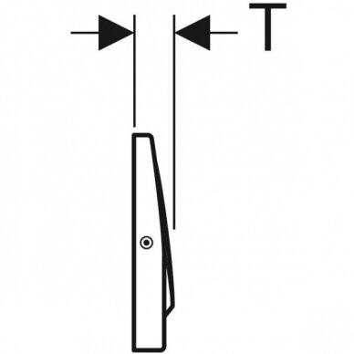 Vandens nuleidimo mygtukas Geberit Delta 15 3