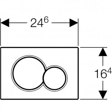 Vandens nuleidimo mygtukas Geberit Sigma 01 3