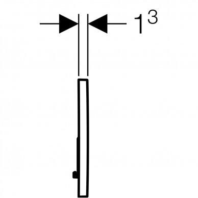 Vandens nuleidimo mygtukas Geberit Sigma 01 4