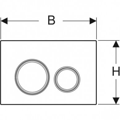 Vandens nuleidimo mygtukas Geberit Sigma 21 2