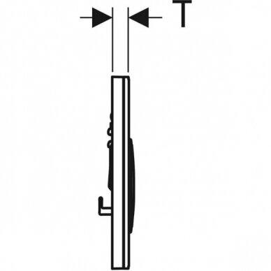 Vandens nuleidimo mygtukas Geberit Sigma 21 4