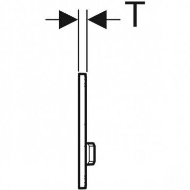 Vandens nuleidimo mygtukas Geberit Sigma 50 4