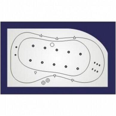 Vandens-oro masažinė sistema Koller Lux nr. 3