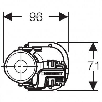 "Vandens pripildymo mechanizmas Geberit Impuls360 1/2"" 3"