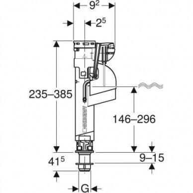 "Vandens pripildymo mechanizmas Geberit Impuls360 3/8"" 3"