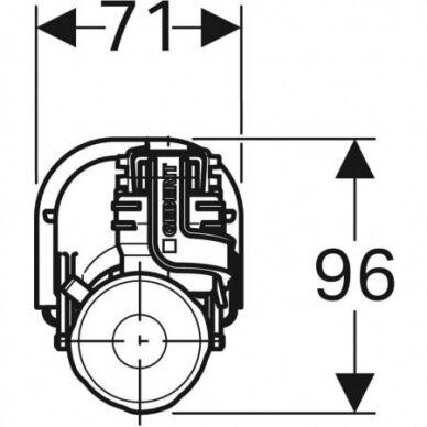"Vandens pripildymo mechanizmas Geberit Impuls360 3/8"" 4"