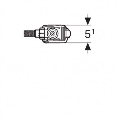 Vandens pripildymo mechanizmas Geberit Typ 333 adapteriu 3/8 1/2 3
