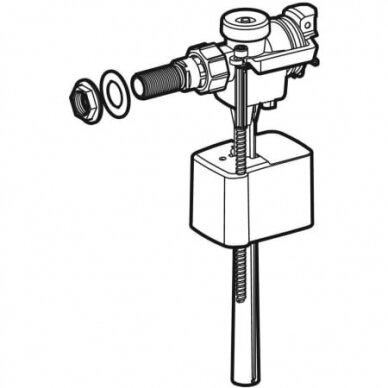 "Vandens pripildymo mechanizmas Geberit Type 333 3/8"" 2"