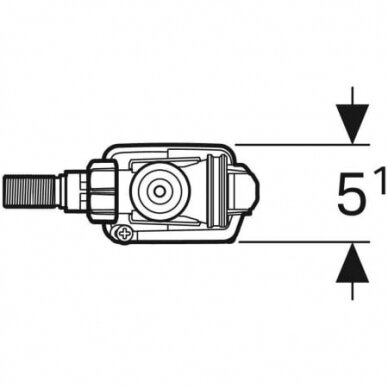 "Vandens pripildymo mechanizmas Geberit Type 333 3/8"" 4"