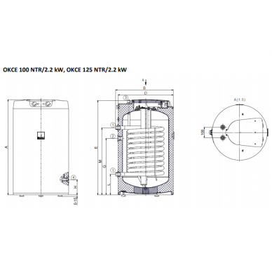 Vandens šildytuvas Dražice OKCE 100 NTR 2