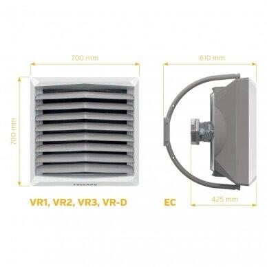 Vandens šildytuvas VTS Volcano VR1 EC 5-30kW 2