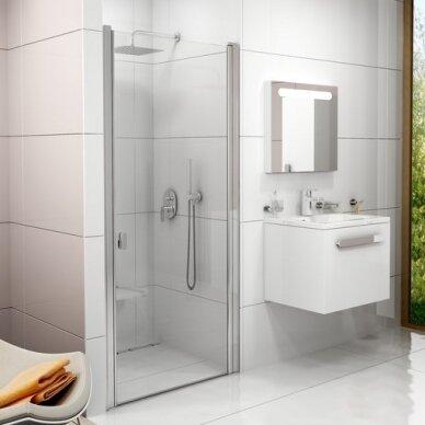 Varstomos dušo durys Ravak Chrome CSD1 80, 90 cm