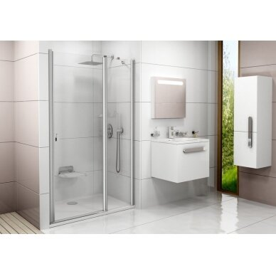 Varstomos dušo durys Ravak Chrome CSD2 100, 110, 120 cm 2