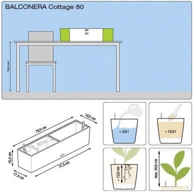 Vazonas Balconera Cottage LECHUZA 8