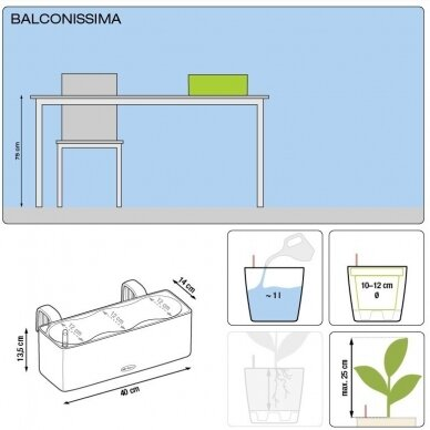Vazonas Balconissima Color LECHUZA 4