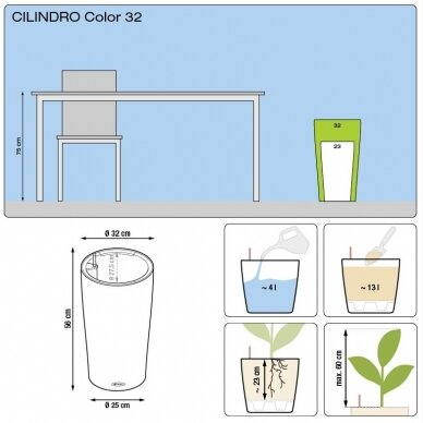 Vazonas Cilindro Color LECHUZA 6