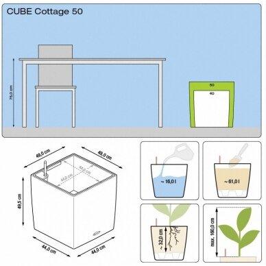 Vazonas Cube Cottage LECHUZA 6