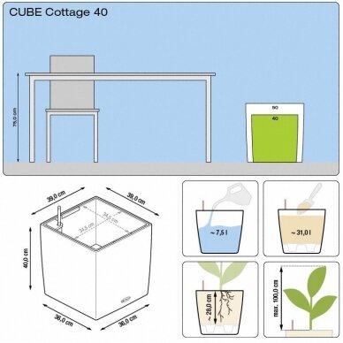 Vazonas Cube Cottage LECHUZA 7