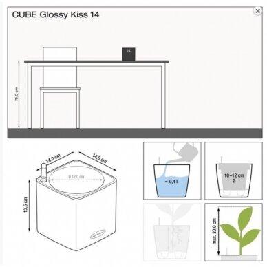 Vazonas Cube Glossy Kiss 14 LECHUZA 5