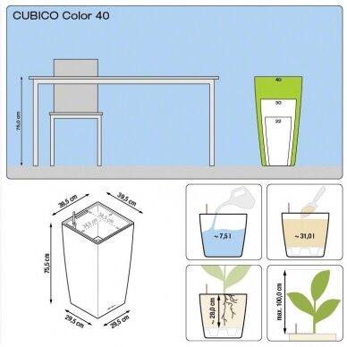 Vazonas Cubico Color LECHUZA 9