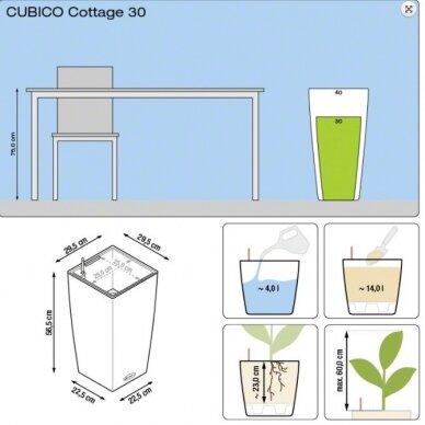 Vazonas Cubico Cottage LECHUZA 7