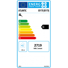Vertikalus elektrinis vandens šildytuvas Atlantic O'Pro+ 80; 80 l, 1.5kW